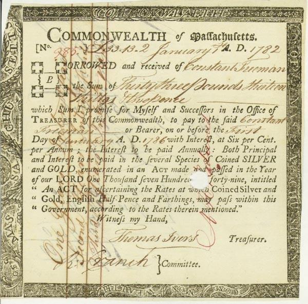 4: Commonwealth Of Massacusetts Bond