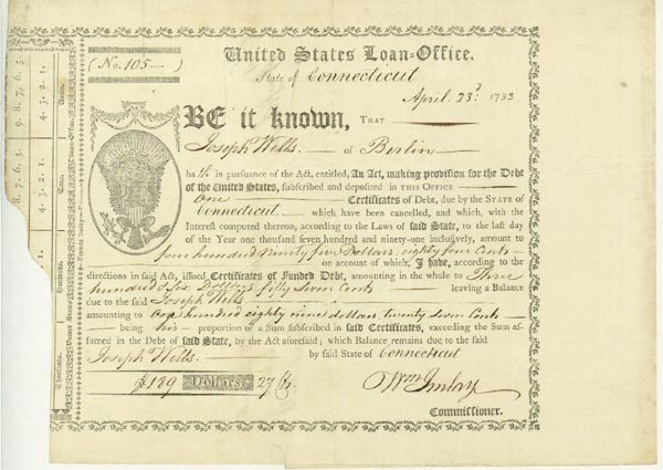 5: United States Loan Office Certificate