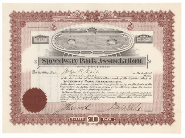 21: An Extremely Early Automobile Racing Certificate!