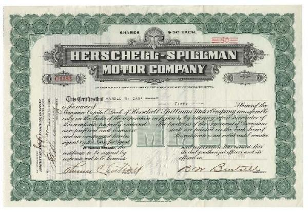 23: Herschell-Spillman Motor Company