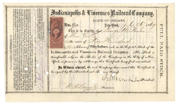 Signed By Ambrose E. Burnside As President