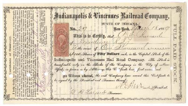 Ambrose E. Burnside Signs As President