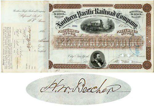 NP RR Stock I/S - Rev. Henry Ward Beecher