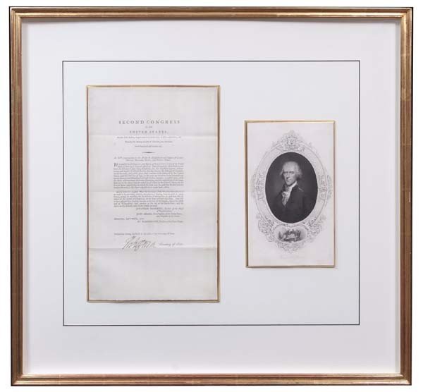 5: Act of the Second Congress Signed  Thomas Jefferson