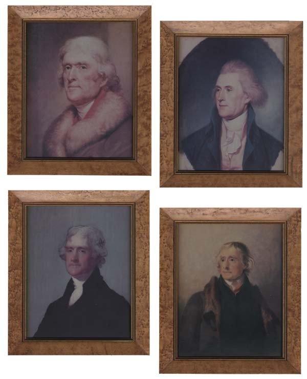 6: Set Of Four Modern Framed Jefferson Images