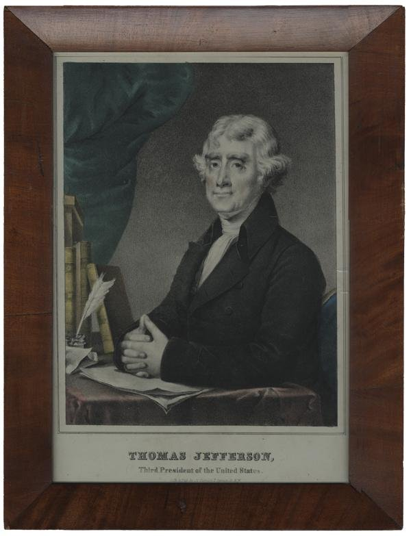 7: Thomas Jefferson Print By Currier