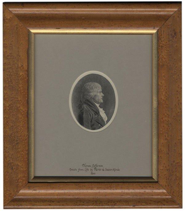 8: Jefferson Print by Saint-Memin
