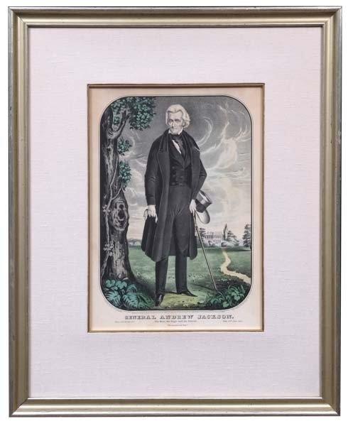 12: General Andrew Jackson Hand-Colored Memorial Print