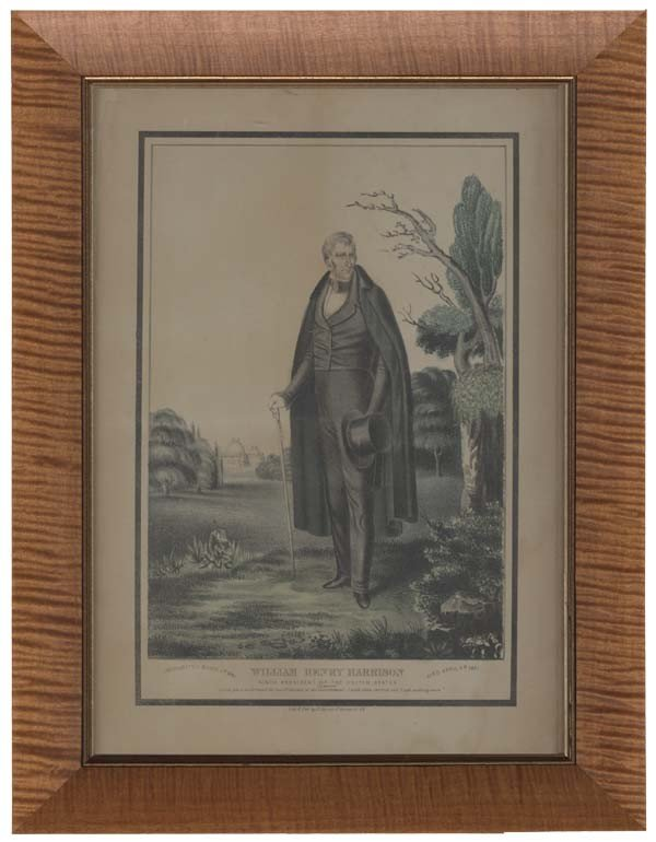 13: Hand Colored Early Currier Print: Memorial to Pres.