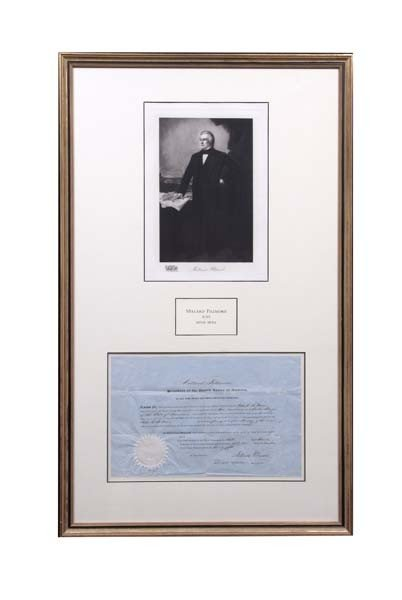 18: Millard Fillmore Signed Postmaster's Appointment