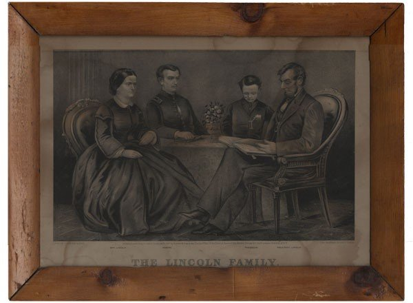 """23: """"The Lincoln Family"""" by Currier & Ives"""