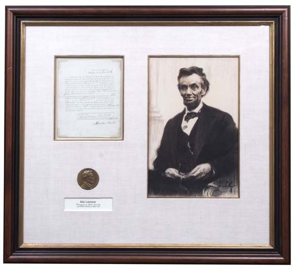 25: Abraham Lincoln Signed Draft Call For Vermont