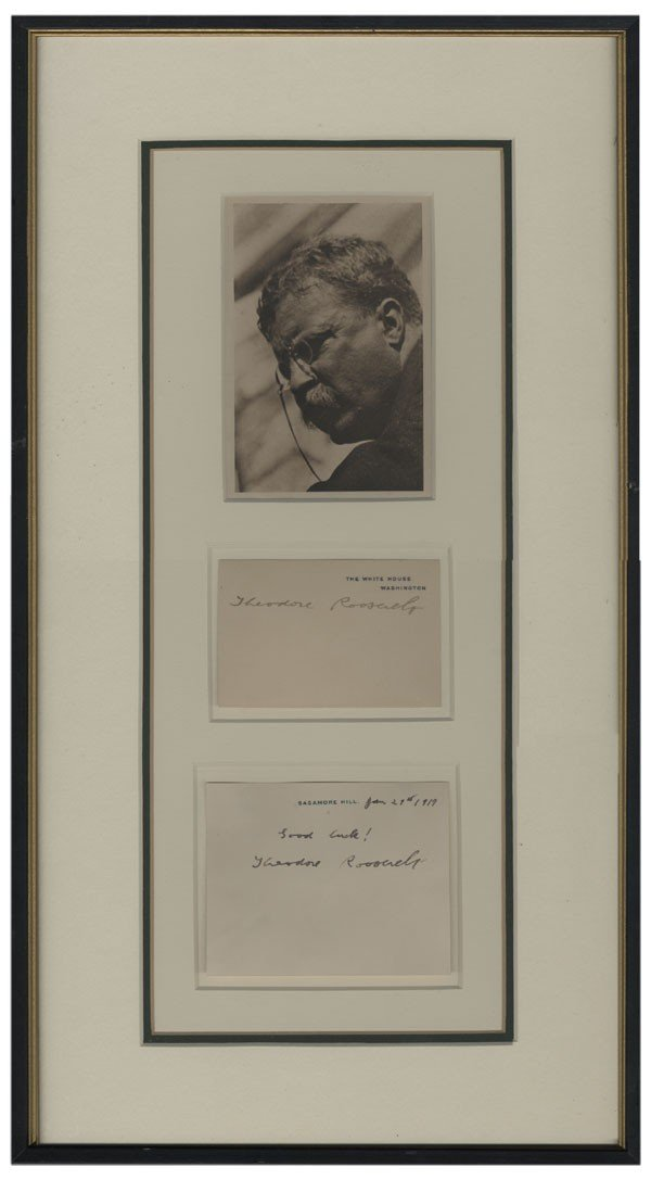34: TD Signed White House and Sagamore Hill Cards
