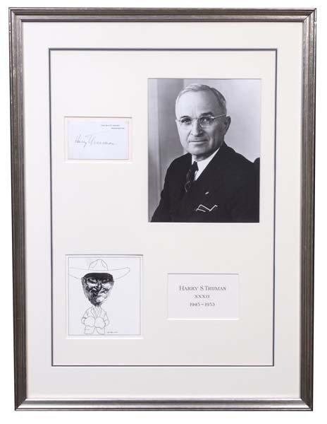 58: Truman Signs a White House Card