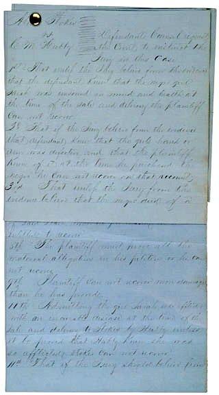 "24: AN ""UNSOUND "" SLAVE COURT CASE!"
