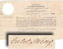 235: CALEB STRONG SIGNED WAR OF 1812 COMMISSION