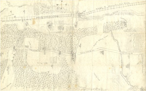 377: ILLUSTRATED MAP OF THE CAMP GROUNDS OF THE 3RD MAI