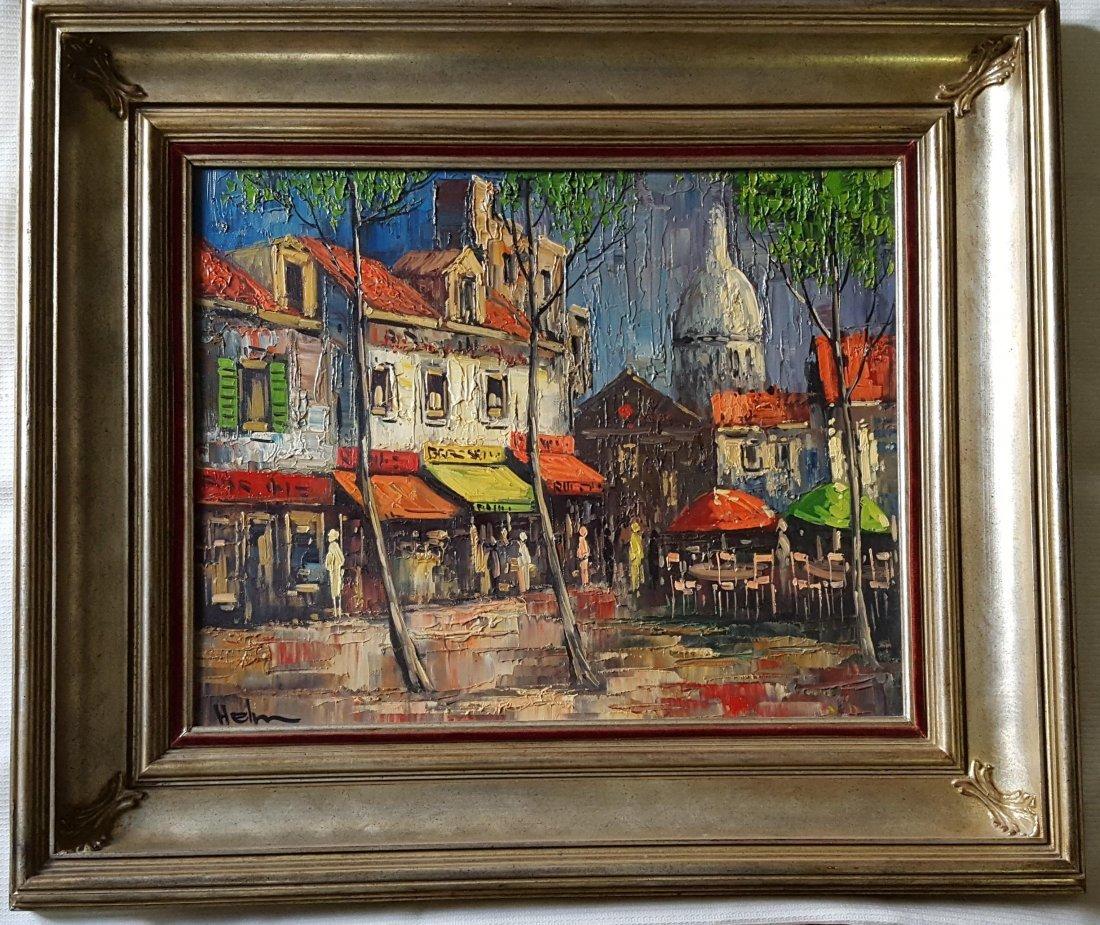 Sacre Coeur by HELM, O/C magnificent gilt frame - 2