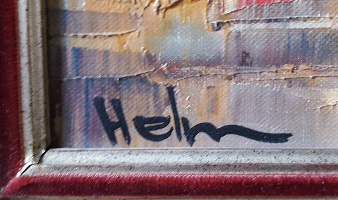 Sacre Coeur by HELM, O/C magnificent gilt frame - 3