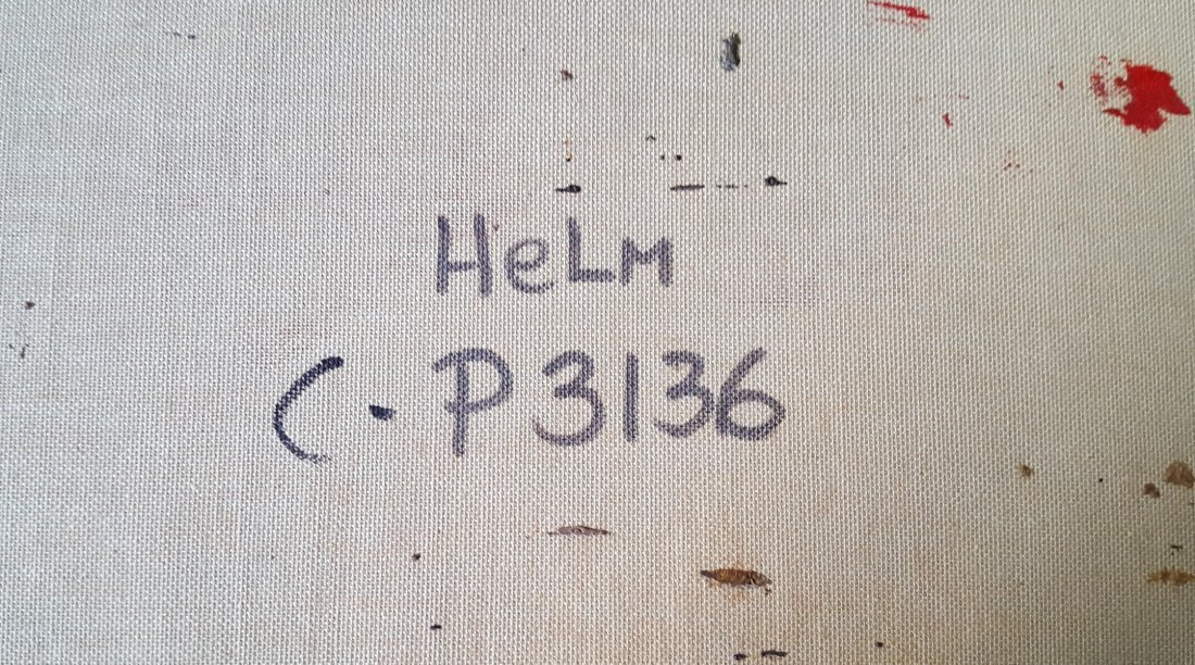 Sacre Coeur by HELM, O/C magnificent gilt frame - 7
