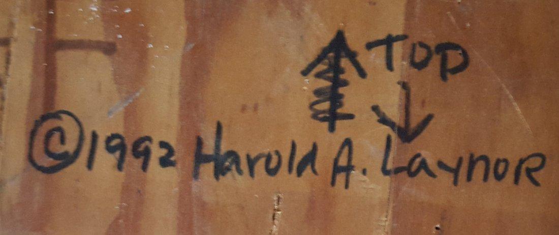 HAROLD LAYNOR signed Oil/Mixed Media on Board, The Hole - 4
