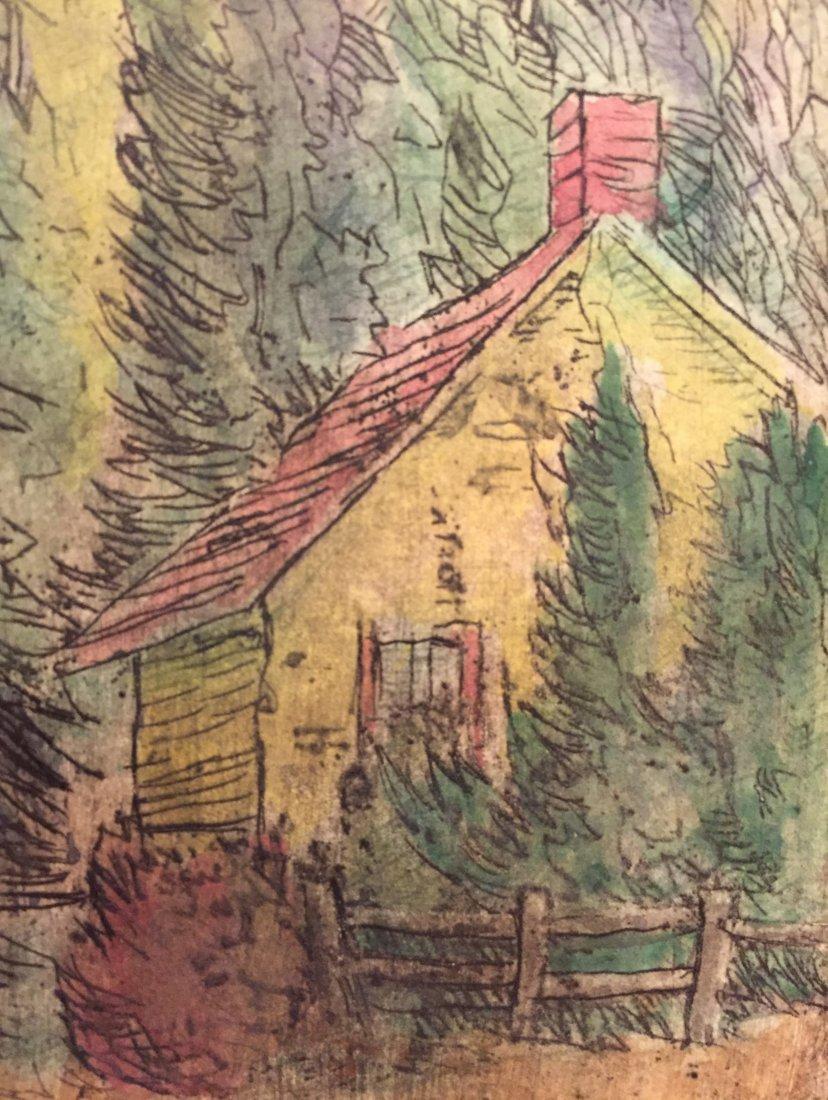 CARL KRAFFT Signed Hand-color Etching - 5