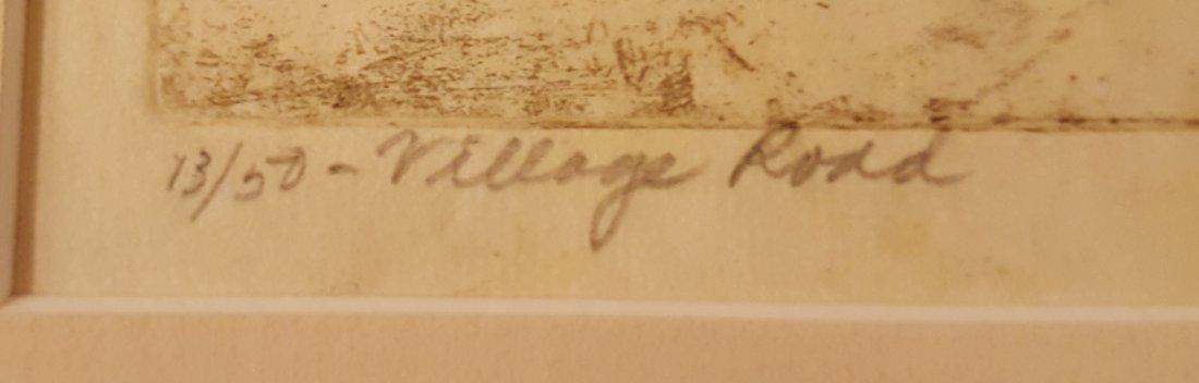 CARL KRAFFT Signed Etching Village Road - 4