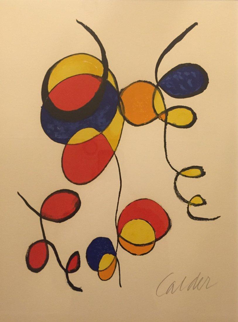 """ALEXANDER CALDER   """"Spirals"""" Lithograph, signed"""