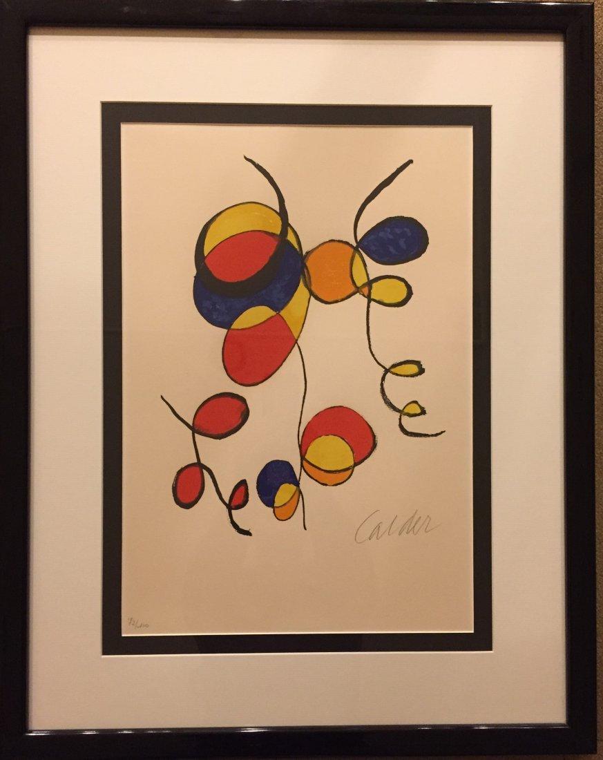 """ALEXANDER CALDER   """"Spirals"""" Lithograph, signed - 2"""
