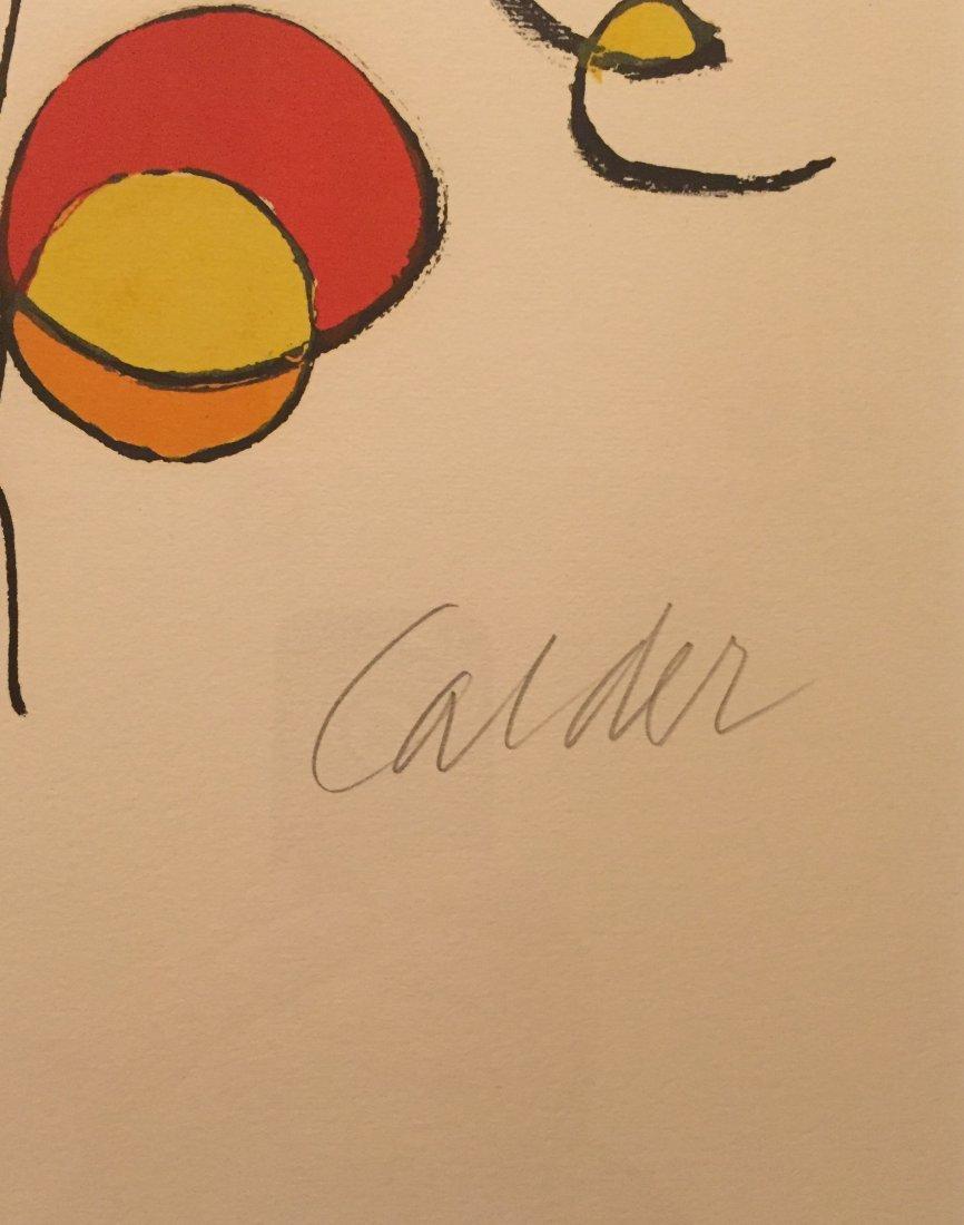 """ALEXANDER CALDER   """"Spirals"""" Lithograph, signed - 3"""