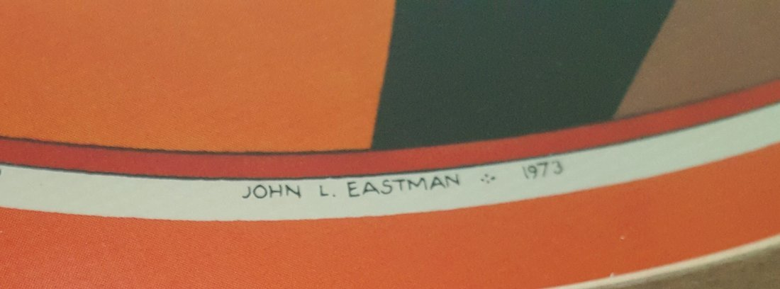 EASTMAN Vintage Serigraph original frame 1973 - 4