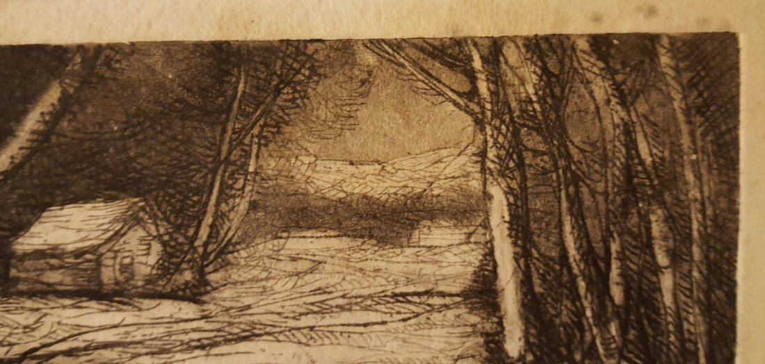 CARL KRAFFT Signed Etching Creek in Snow - 5