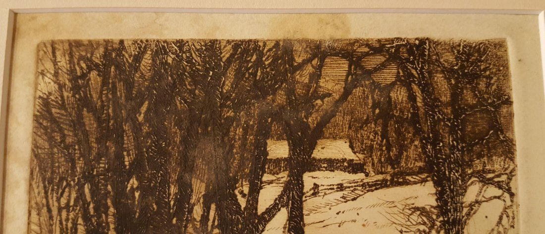 CARL KRAFFT Signed Etching Creek in Winter - 6