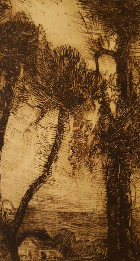 CARL KRAFFT Signed Etching The Willows - 4
