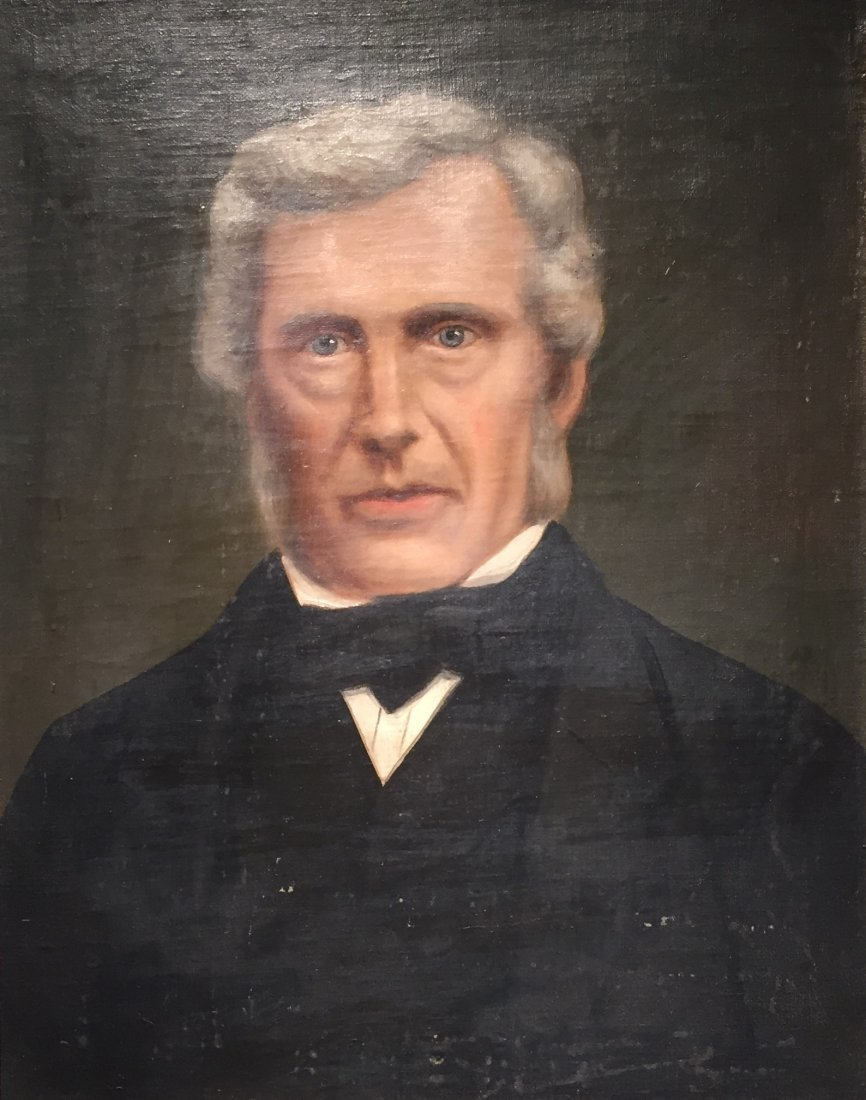 Oil on Canvas Portrait, unsigned   c. 1860