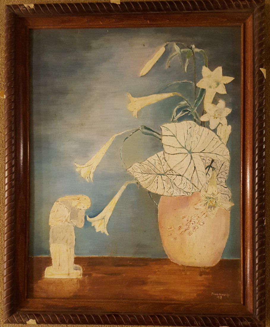 PAHLMANN Oil on Canvas Still Life 1943