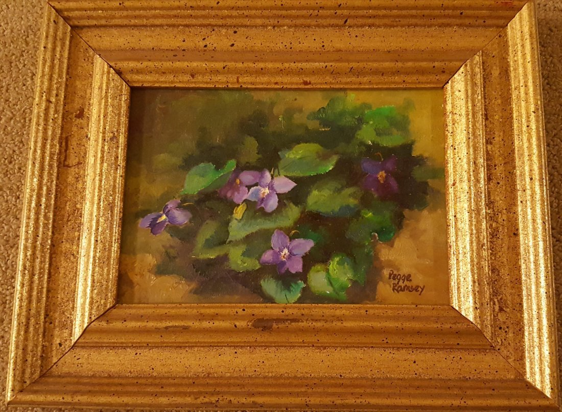 "RAMSEY Oil on Board and ""Violets"""