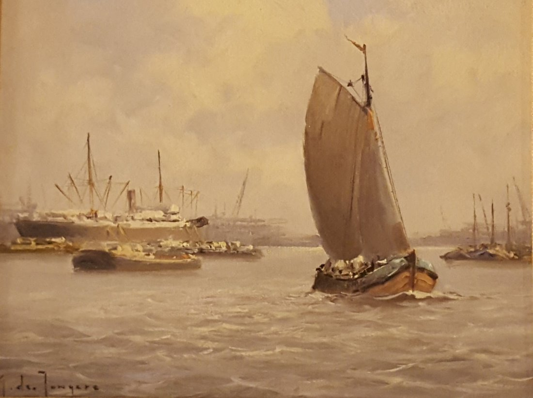 M. de TONGERE, Scandinavian School Oil on Canvas