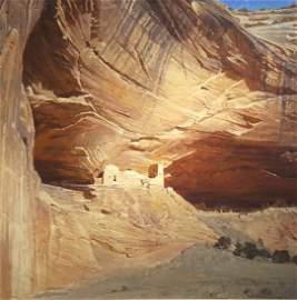 CURT WALTERS Oil on Canvas   Anasazi Castle