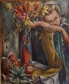 MIRIAM McKINNIE, WPA Artist, Oil on Canvas 1941