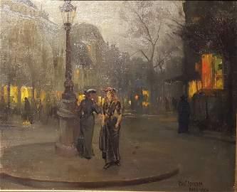 BERNEKER Paris 1904 Oil on Board