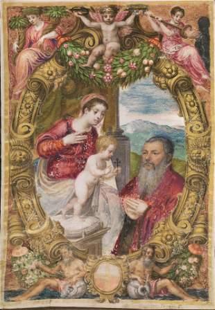 Scuola veneta, sec. XVI LA MADONNA COL BAMBINO APPARE A