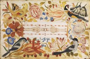 Scuola italiana, secolo XVIII  CORNICE FLOREALE CON