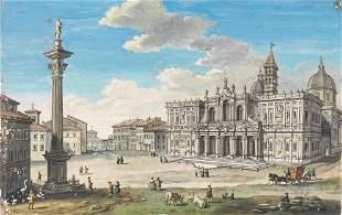 Scuola romana, sec. XVIII SANTA MARIA MAGGIORE penna e