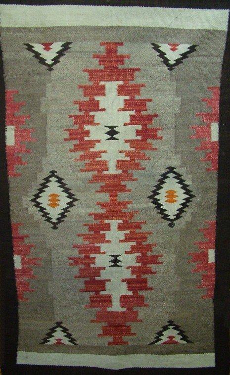 1001:Native American Hand Woven Blanket, Sunrise Design