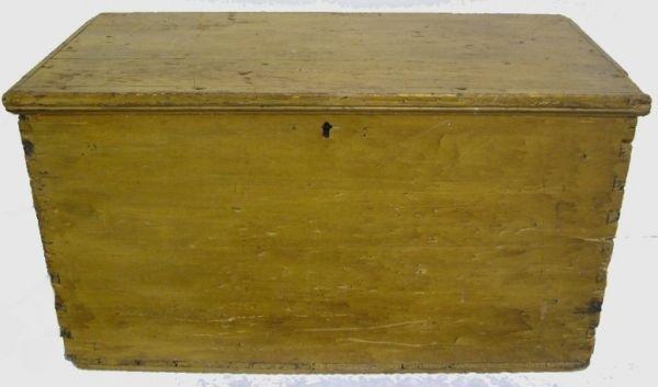 1003: As Found Hudson Valley Blanket Box Ca 1800