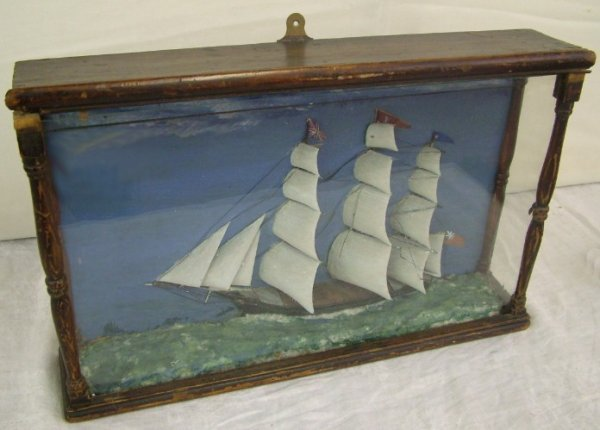 1008:Captain's Folk Art British Clipper Ship Diarama