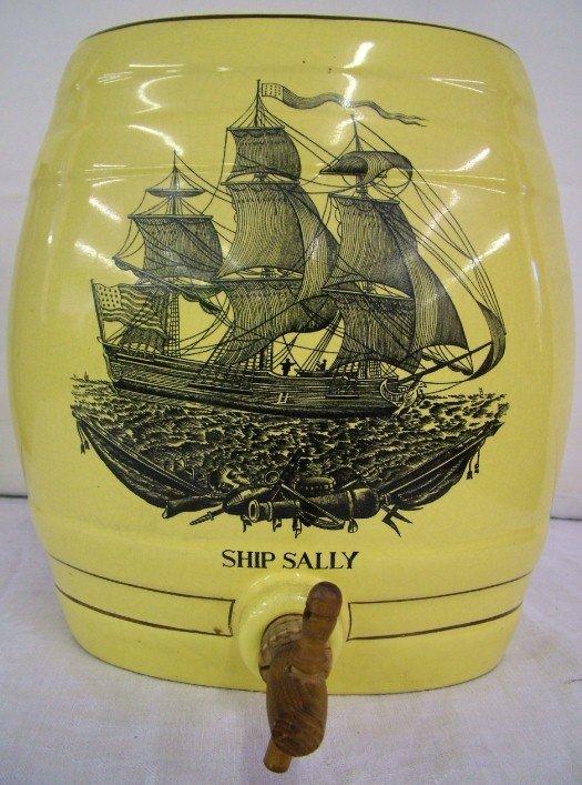 1011: Ship Sally  Transferware  Water Cooler