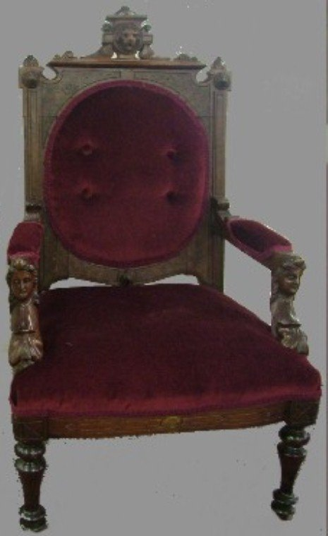 1013:  American  Victorian Walnut Childs Chair(jalif)?