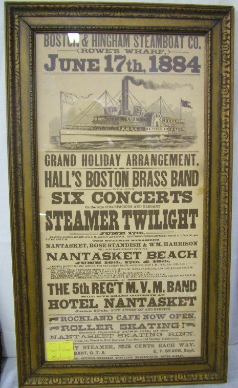 1016: Boston and Hingham Steamboat Advertisement